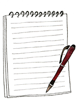 drawing of a notebook