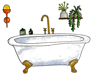 Illustration of a bath
